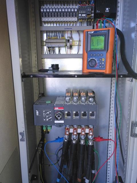 Analizador de calidad de red eléctrica