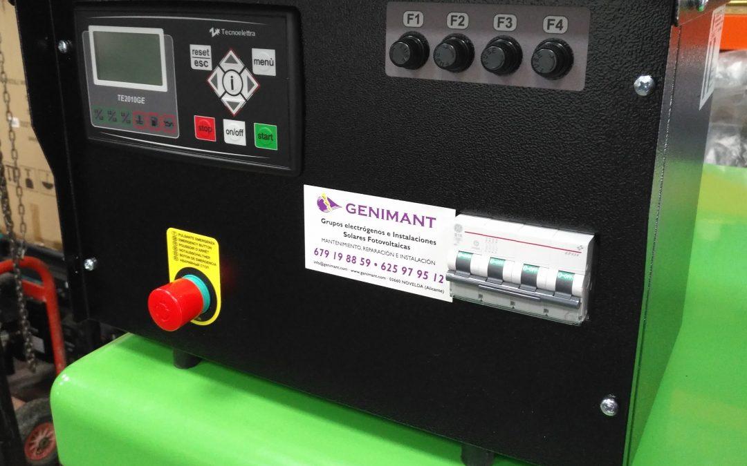 Cuadro de control de grupo electrógeno manual
