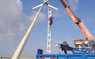 Instalación de un aerogenerador