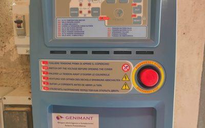Cuadro de control y conmutación trifásico.