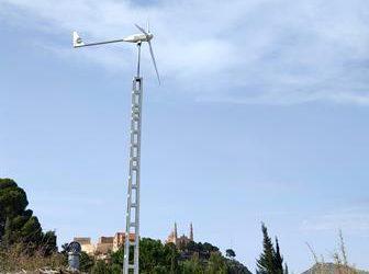 Montaje de aerogenerador Bornay